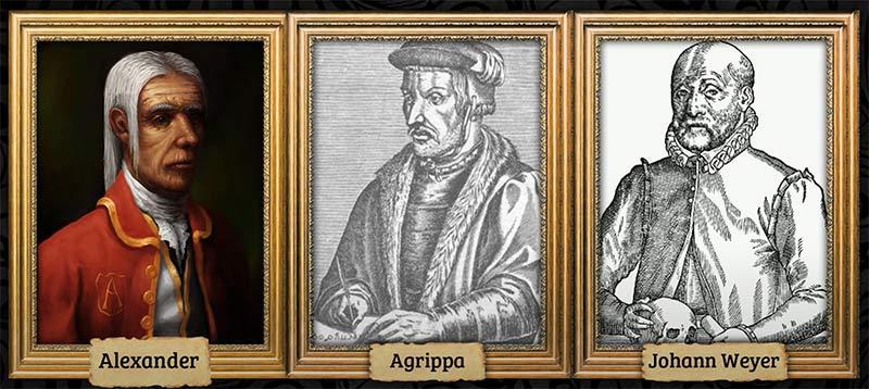 Mâu thuẫn giữa 3 nhân vật Alexander, Agrippa và trợ lý Johann Weyer - Amnesia: The Dark Descent phân tích cốt truyện