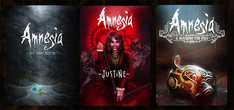 The Dark Descent (2010), Amnesia: Justine (2011), Amnesia: A Machine for Pigs (2013)