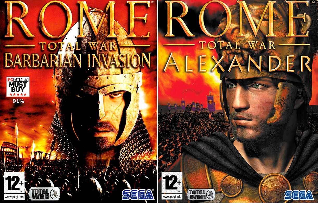 Lịch sử hình thành Rome: Total War: Barbarian Invasion và Rome: Total War: Alexander