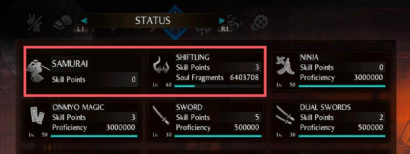 Shiftling và Samurai - 2 mục mới của Nioh 2
