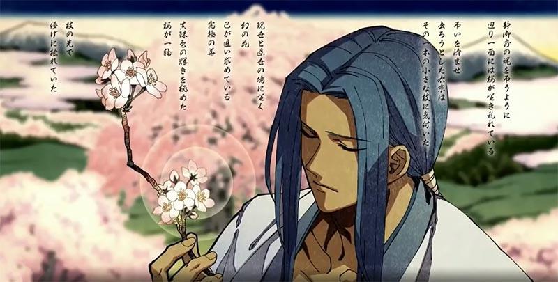 Sau khi bị đánh bại Shizuka thì Ukyo Tachibana đã tìm được cành đào tuyệt đẹp