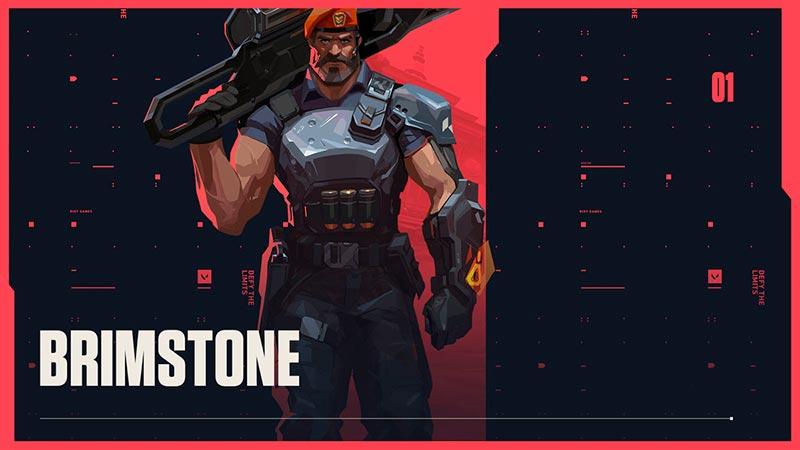 Brimstone của game bắn súng pc Valorant nhân vật vị tướng tương tác cao với bản đồ