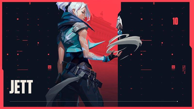 Game bắn súng góc nhìn thứ nhất Valorant nhân vật Jett - Mật danh Wushu, Hawk và Woosh