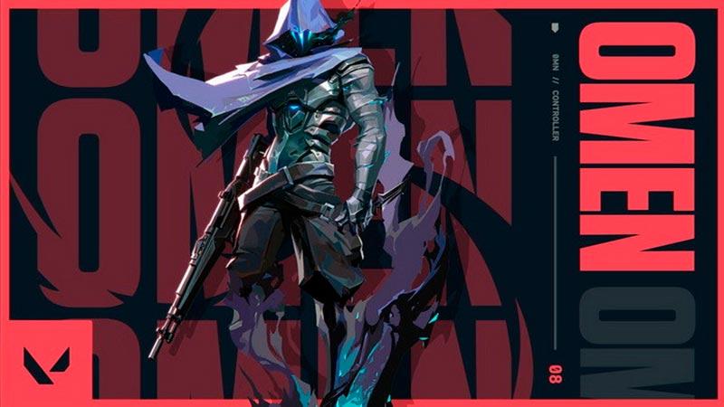 Nhân vật Omen của game bắn súng góc nhìn thứ nhất Valorant sử dụng sức mạnh của bóng tối