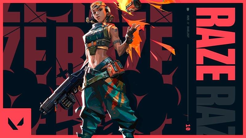 Raze Valorant Nhân vật cuối cùng của nhóm Duelist