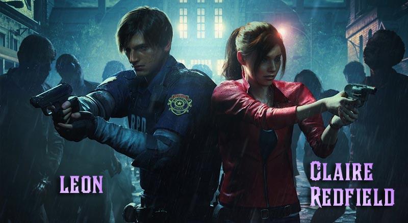 2 nhân vật chính trong cốt truyện Resident Evil 2