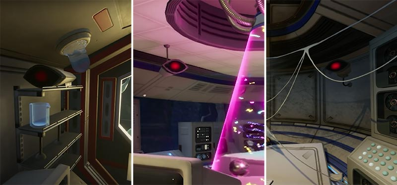 Camera được thấy ở khắp nơi các phòng thí nghiệm trong tựa game sinh tồn thế giới mở này