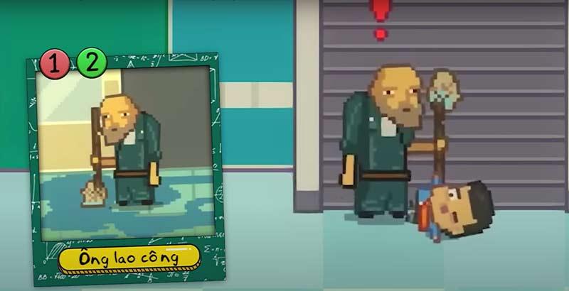 Nhân vật Ông lao công trong cả 2 phần game Kindergarten cũng được xem là tuyến nhân vật người lớn chủ chốt