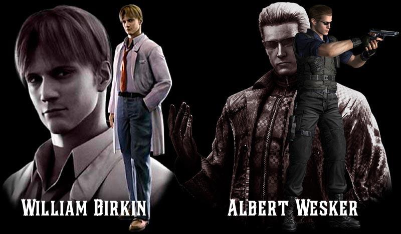 William Birkin và Albert Wesker - 2 học trò thân cận của Spencer trong game kinh dị pc Resident Evil 1 cốt truyện