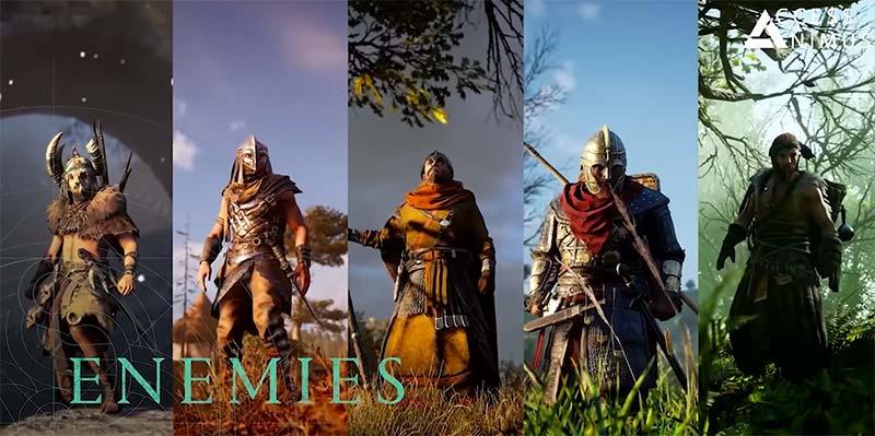 Assassin's Creed Valhalla gameplay với đa dạng kẻ thù hơn
