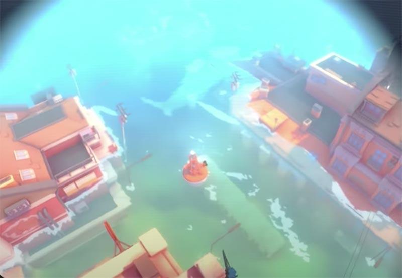Game phiêu lưu 1 người Sea of Solitude gameplay chủ yếu là khung cảnh tại thành phố nước