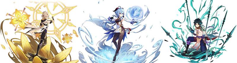 Hệ thống nhân vật mới Genshin Impact phiên bản 1.2: Ganyu, Albedo, Xiao