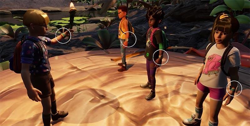 Grounded phân tích game là các nhân vật điều có một điểm chung chiếc dây đeo quan tay