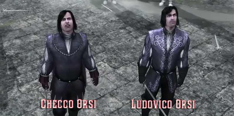 Hai kẻ Templar cầm đầu là nhà Orsi là Checco Orsi và Ludovico Orsi, bắt giữ hai đứa trẻ nhà Sforza