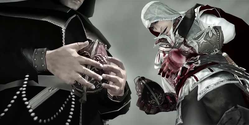 Girolamo Savonarola cướp Apple of Eden từ tay của Ezio