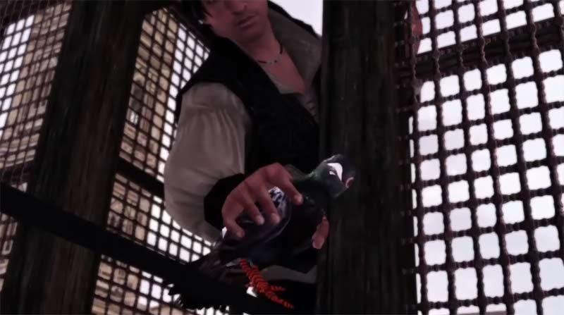 Game hành động lén lút Assassin's Creed 2 cốt truyện trò chơi khi Ezio lấy lá thư thứ 3 một nhóm lính chạy về nhà anh
