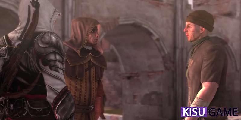La Volpe vả Ezio đến gặp kẻ sát thủ Micheletto Corella