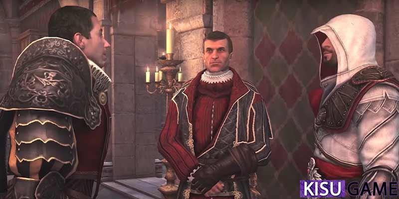 Niccolo Machiavelli dẫn Ezio đến gặp Fabio Orsini - em họ của Bartolomeo d'Alviano