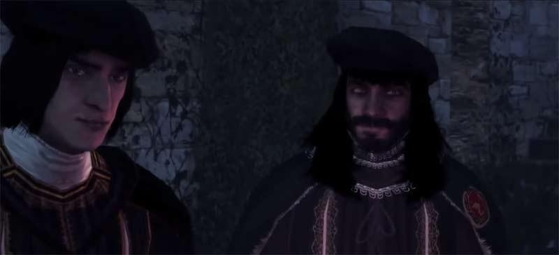 Cuộc trò chuyện ngắn giữa thủ lĩnh của phe Templar gồm Jacopo de Pazzi, Francesco de Pazzi và Vieri de Pazzi