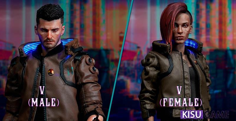 Cyberpunk 2077 cốt truyện game nhân vật chính V (Male) và V (Female)
