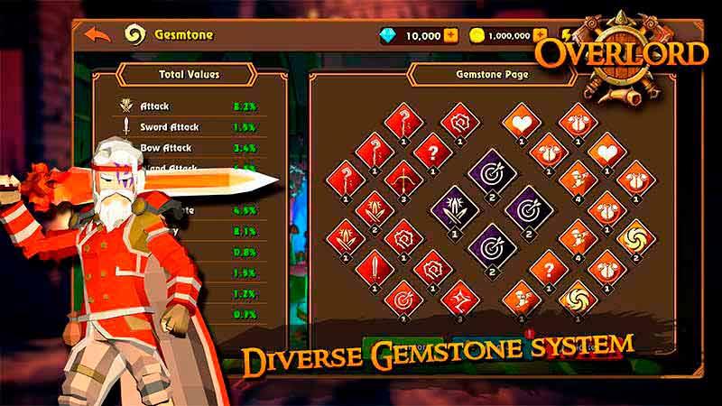 Gameplay bảng ngọc tựa game online hành động Overlord