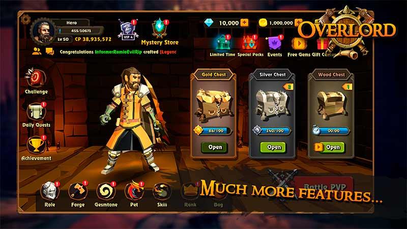 Overlord gameplay hệ thống nhân vật của tựa game mobile hành động