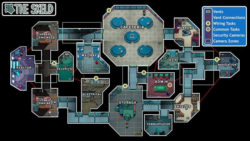 Skeld Map của tựa game online đình đám