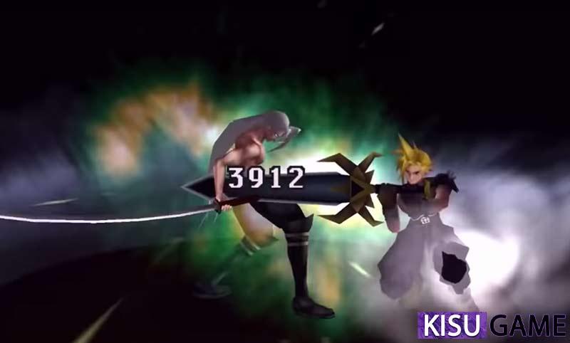 Cloud đã sử dụng đòn Omnislash để kết liễu Sephiroth