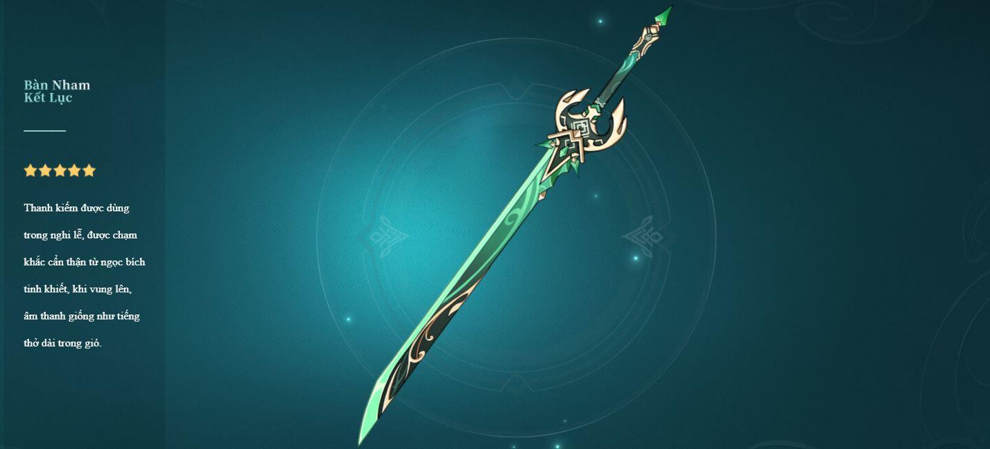Genshin Impact 1.3 Muôn Trùng Minh Tiêu - Thanh Kiếm Primordial Jade Cutter