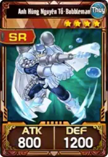 Bubbleman - Lá bài SR trong Bộ bài Yuki Judai Yugi H5