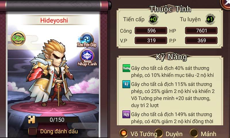 Đại chiến Samurai VNG - Toyotomi Hideyoshi