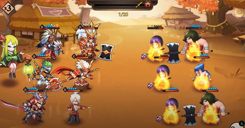 Đội hình Takeda Đại Chiến Samurai VNG