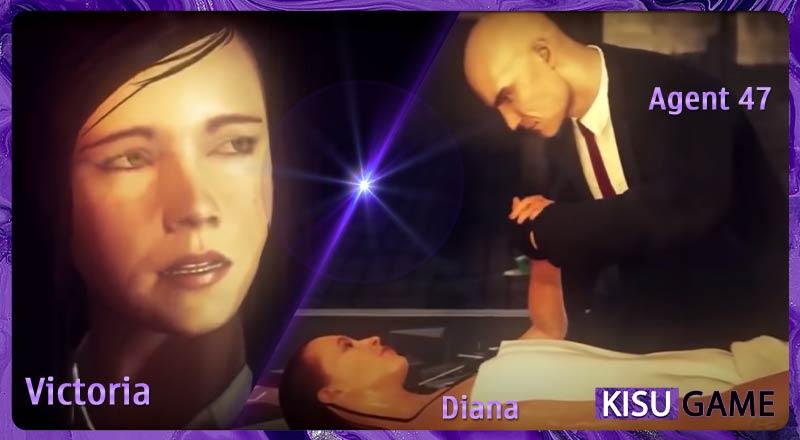Agent 47 đồng ý dễ thoả mãn bí mật cho Diana và bảo vệ Victoria trong cốt truyện của HitMan