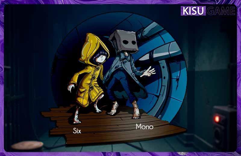 Cậu bé Mono và cô bé Six - 2 nhân vật chính trong cốt truyện game Little Nightmares 2
