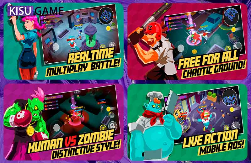 BattleLive: Zombie&Human game multiplayer online sinh tồn 2021