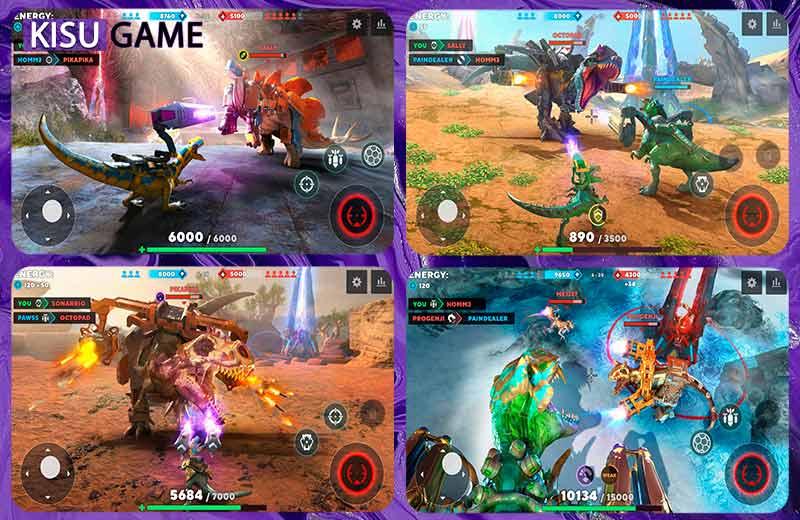 Dino Squad : TPS Dinosaur Shooter tựa game mobile cấu hình thấp multiplayer 2021