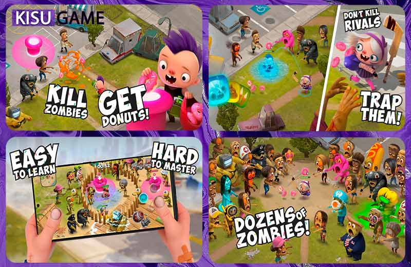 Kids vs Zombies: Brawl for Donuts multiplayer game mobile 2021 xuất sắc