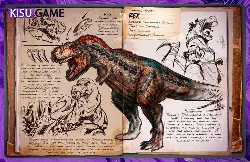 Tyrannosaurus (T-Rex) chú khủng long bá đạo nhất trong Ark Mobile