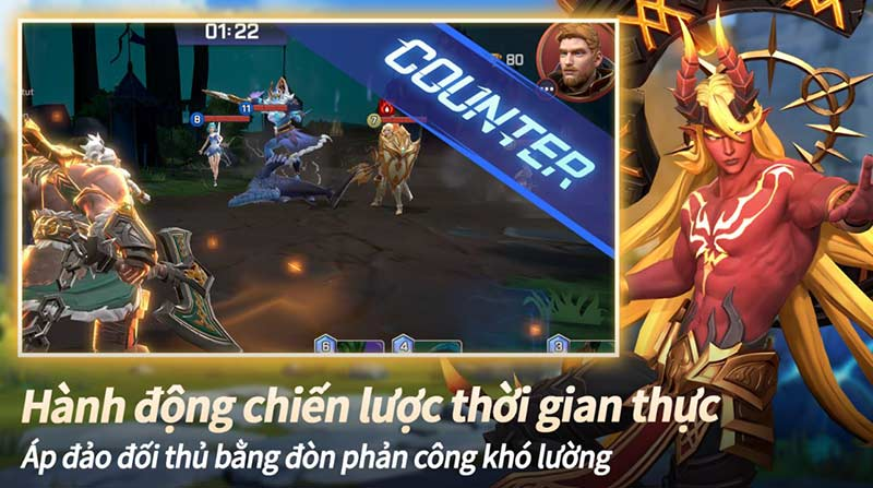 Tựa game chiến thuật hay android Summoners War : Lost Centuria Counter gameplay