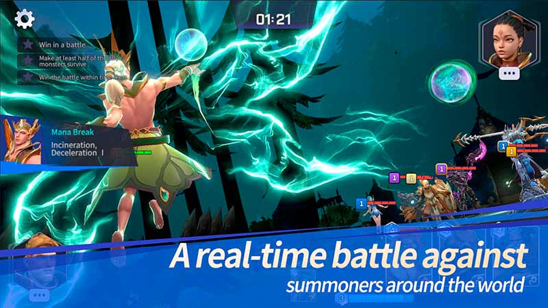 Game mobile chiến thuật thời gian thực hệ thống Mana Summoners War Lost Centuria