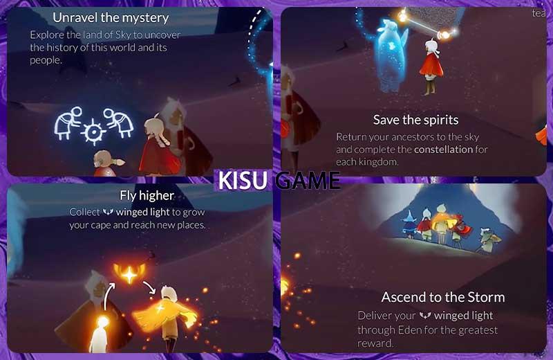 Những nhiệm vụ chính trong gameplay Sky Children of The Light