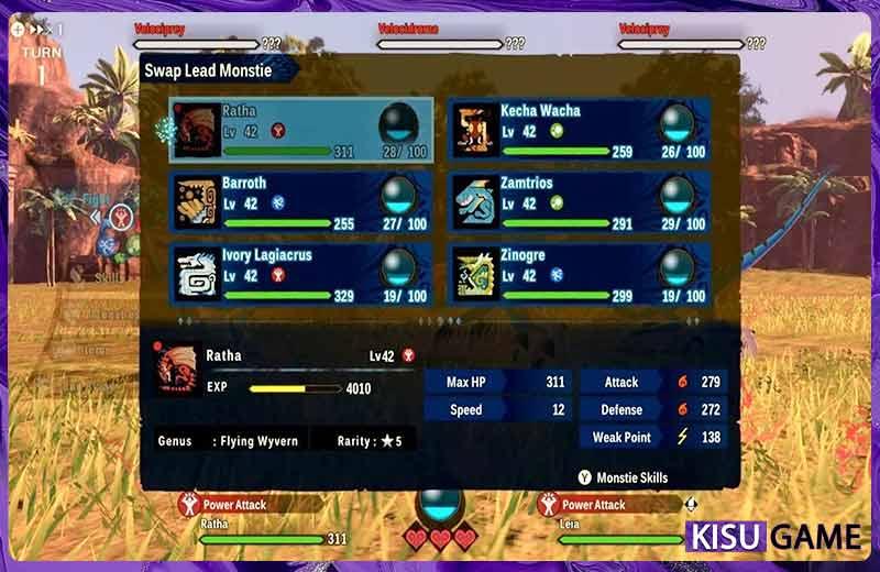 Cách chơi Monster Hunter Stories 2: Wings of Ruin các phím tắt chiến đấu