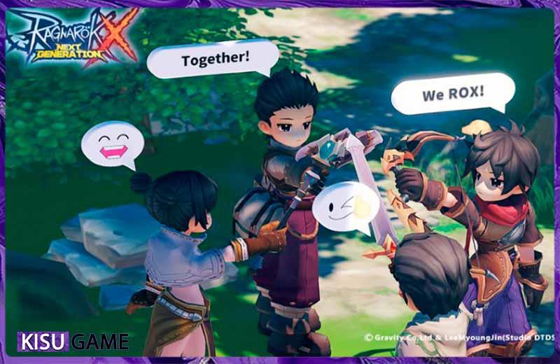 Tìm 1 party train quái cùng nhau cũng là cách lên cấp nhanh trong Ragnarok X: Next Generation